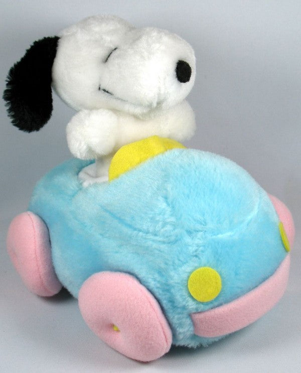 Plush Snoopy and Squeaker Car Set
