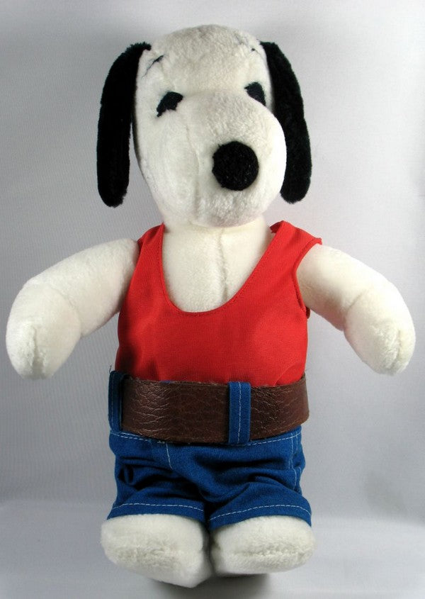 Snoopy Plush Doll In Blue Jeans