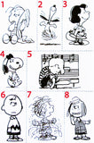 Peanuts Rubber Stamp