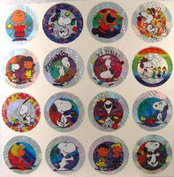 Peanuts Gang Foil Pog Stickers - REDUCED PRICE!