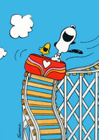 Snoopy and Woodstock Rollercoaster Post Card Set