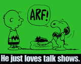 Peanuts Laminated Vintage Poster - Talk Shows