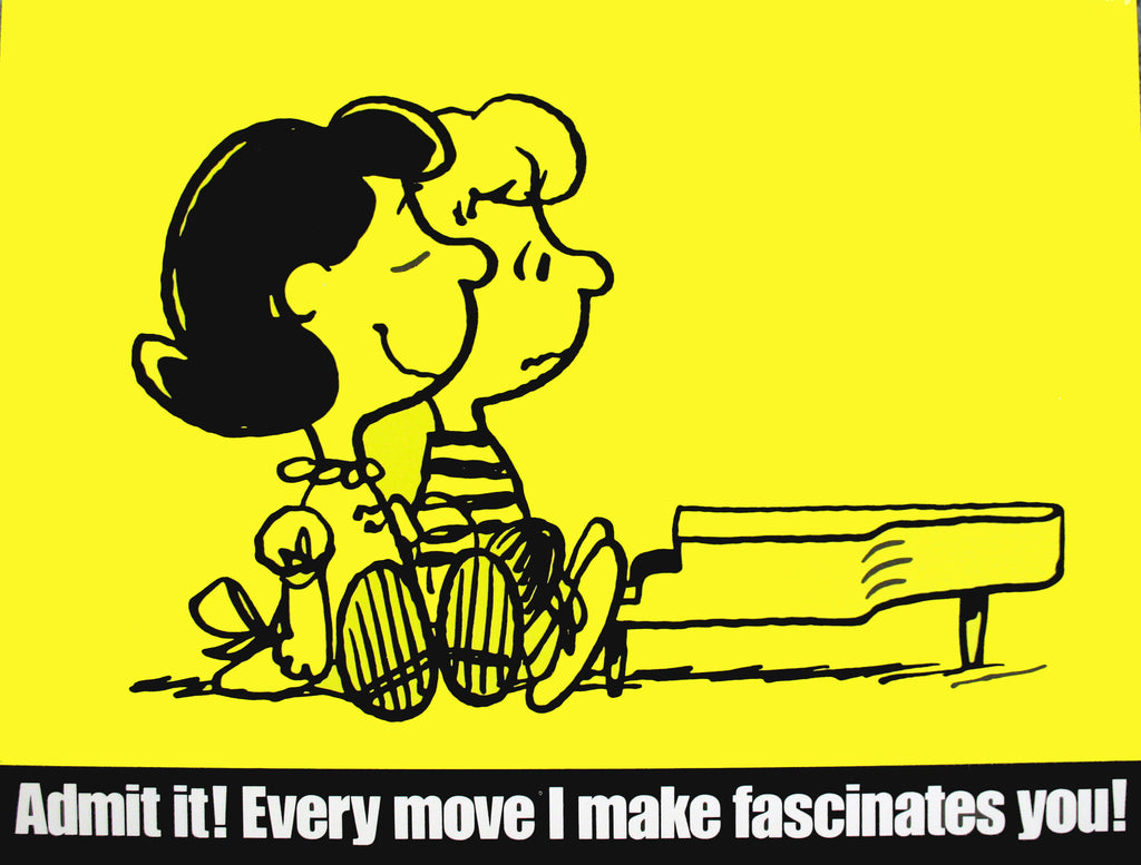Peanuts Laminated Vintage Poster - Every Move I Make