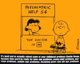 Peanuts Laminated Vintage Poster - Psychiatric Help