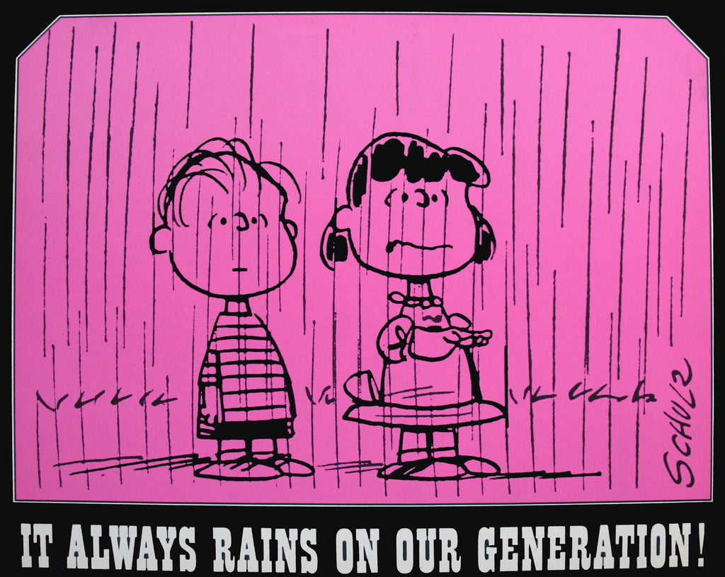 Peanuts Laminated Vintage Poster - Our Generation