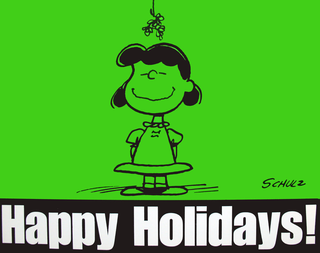 Peanuts Laminated Vintage Poster - Happy Holidays!
