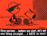 Peanuts Laminated Vintage Poster - Hate To Lose