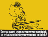 Peanuts Laminated Vintage Poster - What To Write