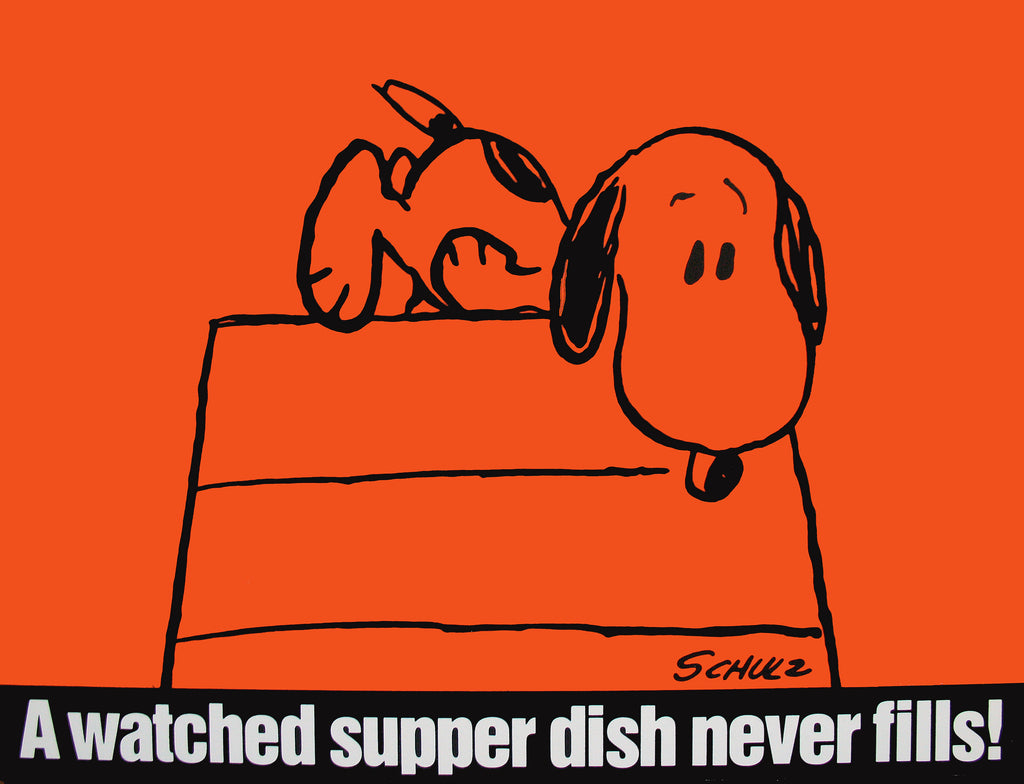 Peanuts Laminated Vintage Poster - A Watched Supper