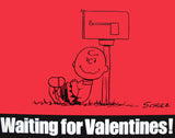 Peanuts Laminated Vintage Poster - Waiting For Valentines