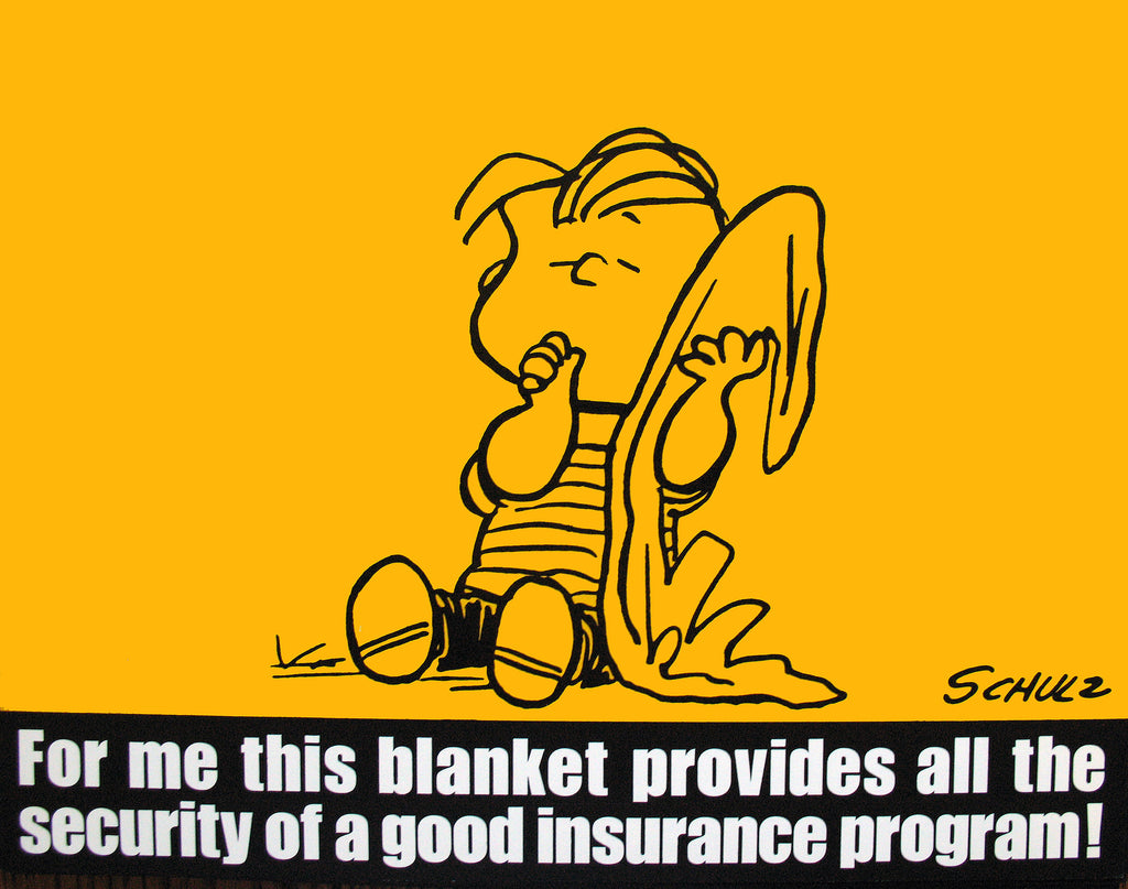 Peanuts Laminated Vintage Poster - Security Blanket