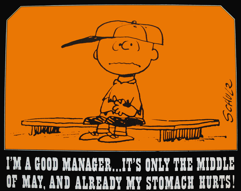 Peanuts Laminated Vintage Poster - Good Manager