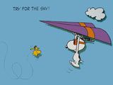 Peanuts Laminated Vintage Poster - Try For The Sky!