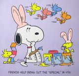 Peanuts Laminated Vintage Poster - Easter Bunny