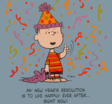 Peanuts Laminated Vintage Poster - New Year's Resolution