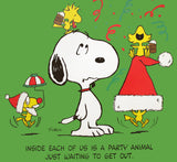 Peanuts Laminated Vintage Poster - Woodstock Party Animal