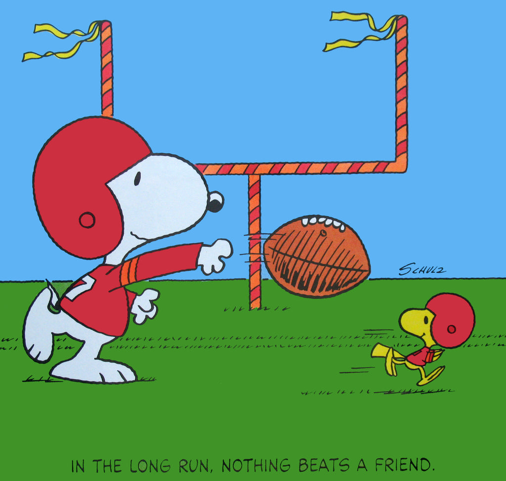 Peanuts Laminated Vintage Poster - Snoopy Football