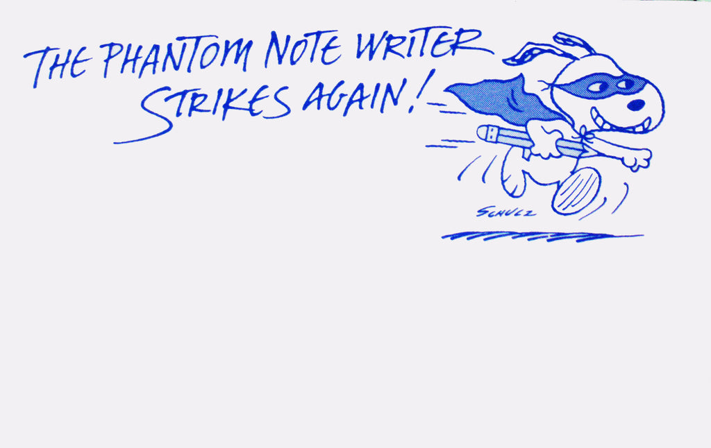 Snoopy Post-It Pad - Phantom Note Writer