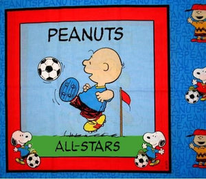"Charlie Brown/Snoopy Pillow Panel (22"" x 36"")"