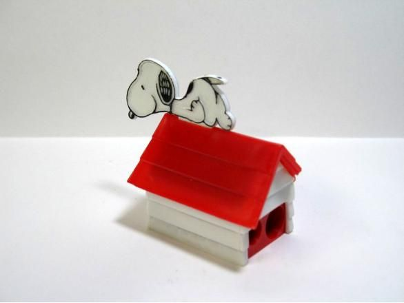 Snoopy on doghouse twin-hole pencil sharpener
