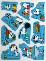 Snoopy and Woodstock Puffy Sports Stickers