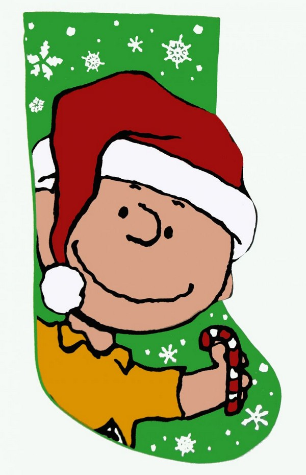 CHARLIE BROWN PLUSH AND PUFFY CHRISTMAS STOCKING