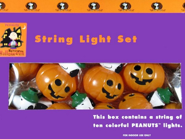 Snoopy Halloween Pumpkin String Lights