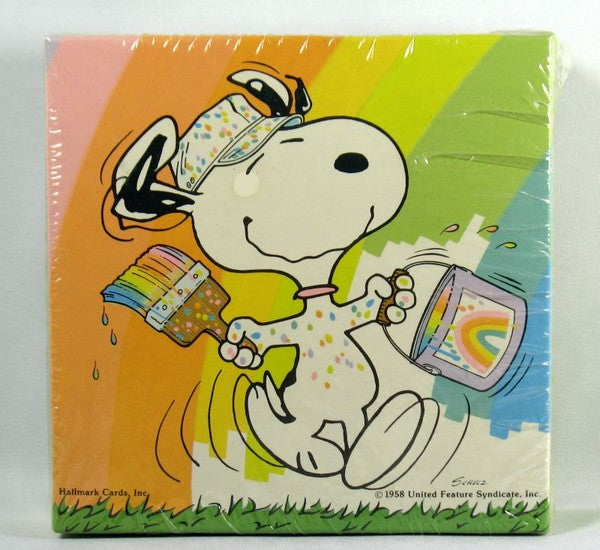 Snoopy Painter Mini Jigsaw Puzzle