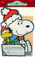 Snoopy Christmas Puzzle Greeting Card