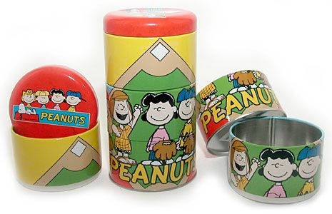 Peanuts Gang 3-Section Puzzle tin canister