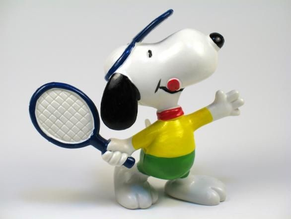 SNOOPY TENNIS PLAYER PVC
