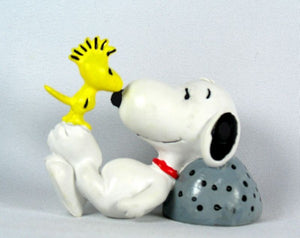 SNOOPY AND WOODSTOCK RESTING BY ROCK PVC