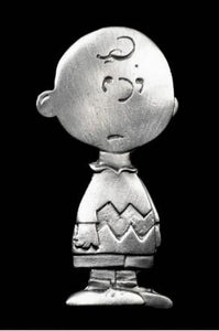 Charlie Brown Solid Pewter Pin