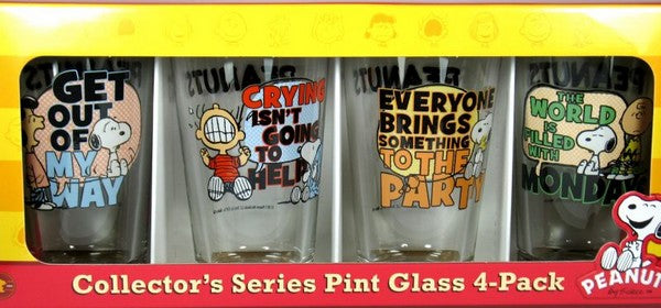 Peanuts Gang Quotes Drinking Glass Set