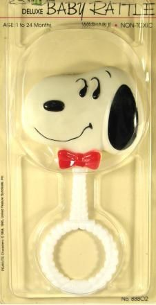 Snoopy Bow Tie Rattle
