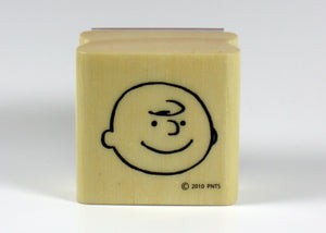 Charlie Brown Happy Face RUBBER STAMP