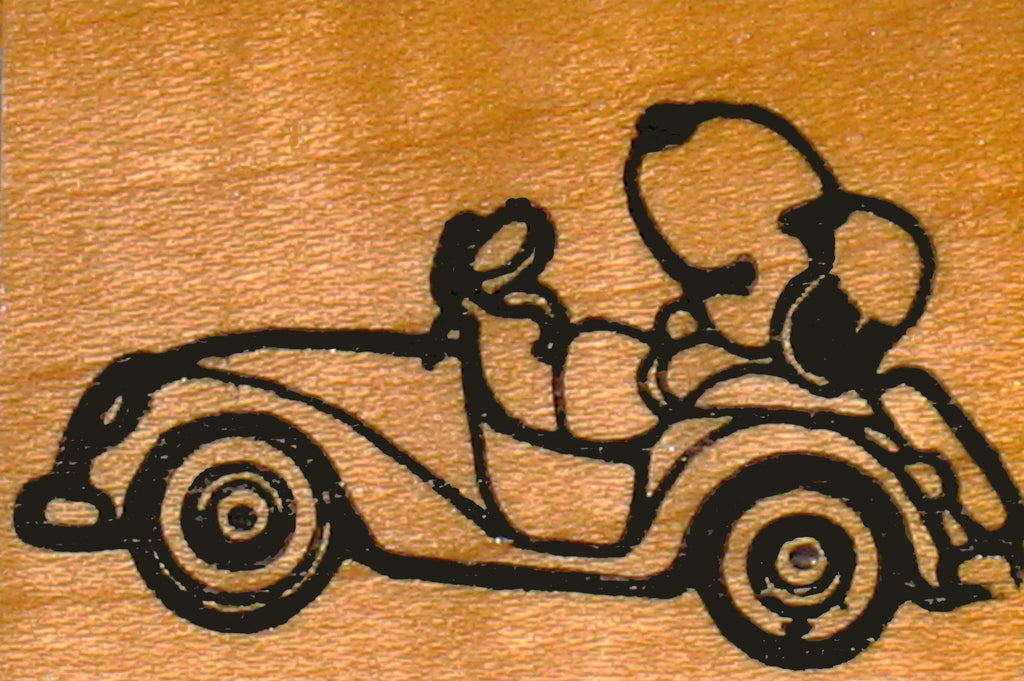 Joe Cool's Jalopy RUBBER STAMP