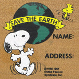 Snoopy Save The Earth RUBBER STAMP