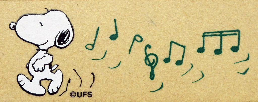 Snoopy Music Notes RUBBER STAMP