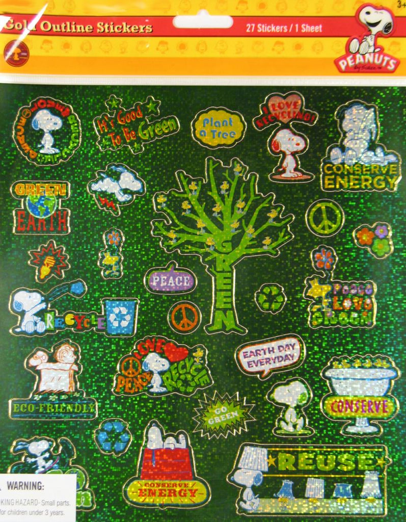 Peanuts Gang Holographic Recycle Stickers