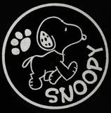Snoopy Reflective Vinyl Car Decal - Lights Up At Night