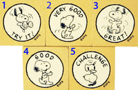 Imported Snoopy Rewards RUBBER STAMP