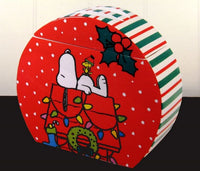 Snoopy Cookie Jar / Snack Jar - Snowy Christmas