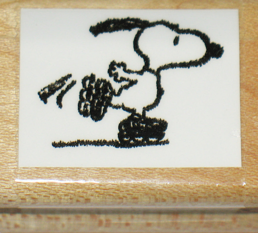 Snoopy Skater Rubber Stamp (*Re-Mounted Used Stamp)