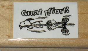 """Great Effort!"" Rubber Stamp (*Re-Mounted Used Stamp)"