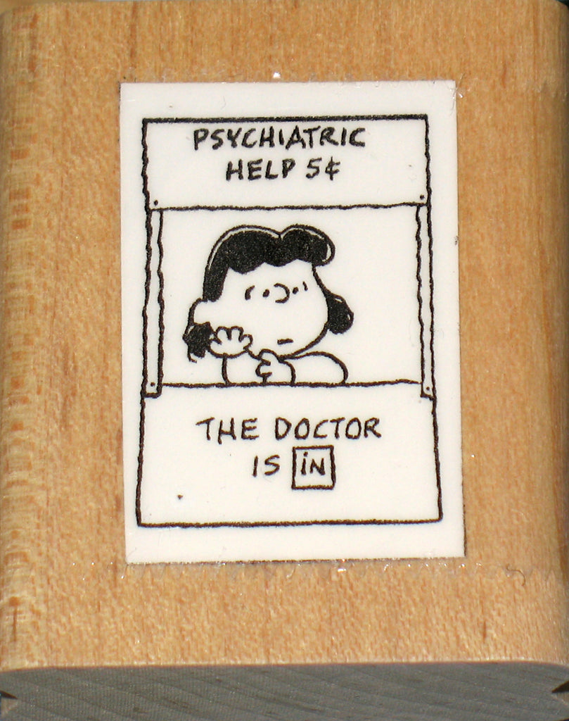 Lucy's Psych Booth Rubber Stamp (*Re-Mounted Used Stamp)