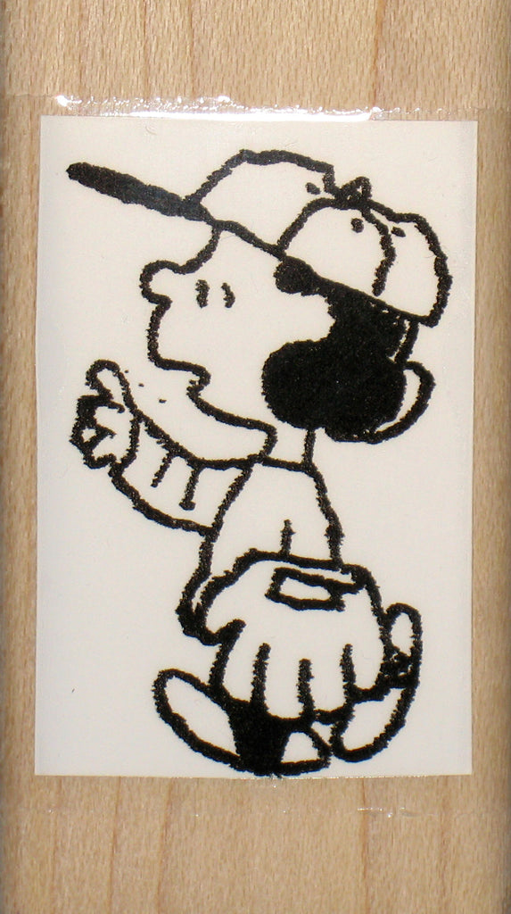 Lucy Baseball Rubber Stamp (*Re-Mounted Used Stamp)