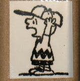 Charlie Brown Yelling Rubber Stamp (*Re-Mounted Used Stamp)