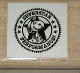 """Superstar Performance"" RUBBER STAMP (*Re-Mounted New Stamp)"