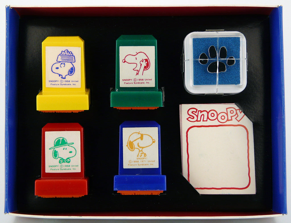 Snoopy 6-Piece Rubber Stamp Set